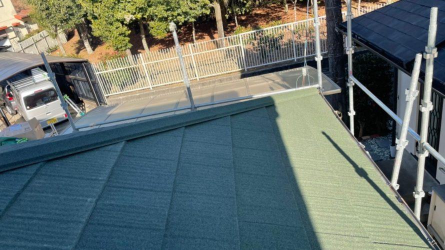 厚木市にて屋根葺き替え工事